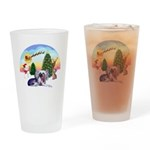 TakeOff-Crested #9 Drinking Glass
