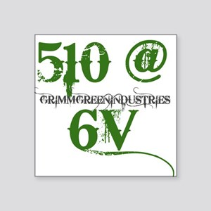 "510 Square Sticker 3"" x 3"""