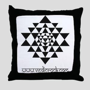 vedic rock sri yantra Throw Pillow