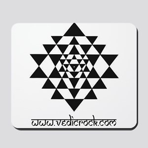 vedic rock sri yantra Mousepad