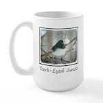 Dark-Eyed Junco Watercolo 15 oz Ceramic Large Mug
