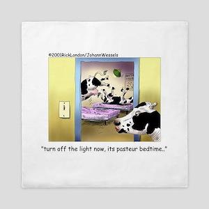 Pasteur Bedtime 4 Baby Cows Queen Duvet