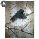 Dark-Eyed Junco Watercolor Puzzle