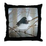Dark-Eyed Junco Watercolor Throw Pillow