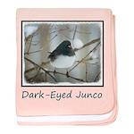 Dark-Eyed Junco Watercolor baby blanket