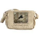 Dark-Eyed Junco Watercolor Messenger Bag