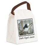 Dark-Eyed Junco Watercolor Canvas Lunch Bag