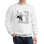 Check Liver - M Sweatshirt
