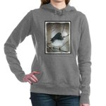 Dark-Eyed Junco Watercol Women's Hooded Sweatshirt