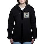 Dark-Eyed Junco Watercolor Women's Zip Hoodie