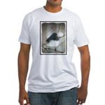 Dark-Eyed Junco Watercolor Fitted T-Shirt
