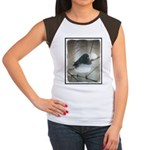 Dark-Eyed Junco Waterc Junior's Cap Sleeve T-Shirt