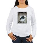 Dark-Eyed Junco Waterc Women's Long Sleeve T-Shirt