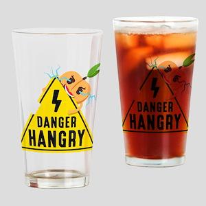 Emoji Peach Hangry Drinking Glass