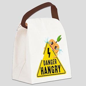 Emoji Peach Hangry Canvas Lunch Bag