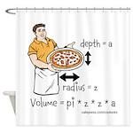 Pizza Volume Shower Curtain