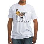 Pizza Volume Fitted T-Shirt