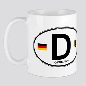 Germany Euro Oval Mug