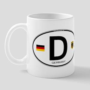 Germany Euro Oval Mug