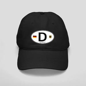 Germany Euro Oval Black Cap