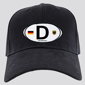 6a686f3c983 German Flag Black Cap With Patch - CafePress