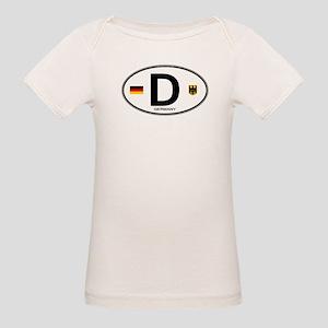Germany Euro Oval Organic Baby T-Shirt