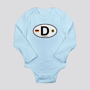 Germany Euro Oval Long Sleeve Infant Bodysuit