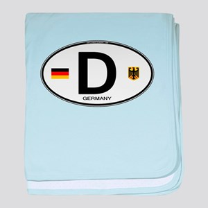 Germany Euro Oval baby blanket