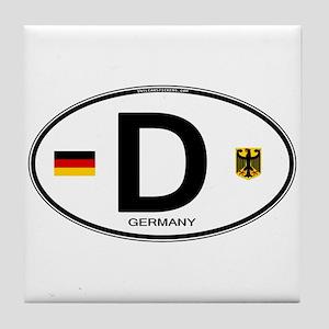 Germany Euro Oval Tile Coaster