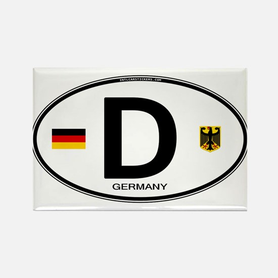 Germany Euro Oval Rectangle Magnet