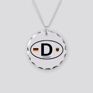 Germany Euro Oval Necklace Circle Charm
