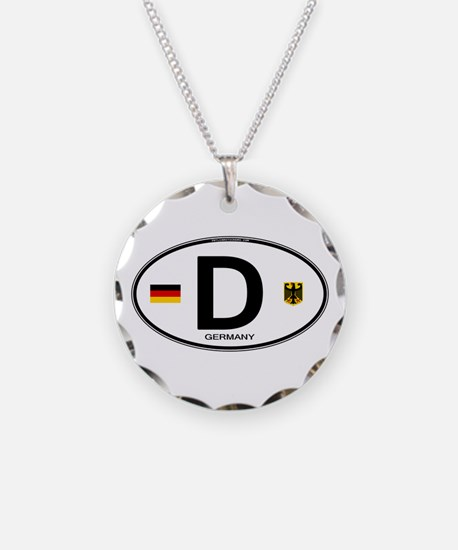 Germany Euro Oval Necklace