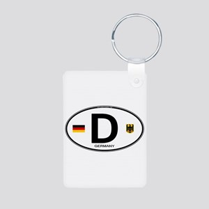 Germany Euro Oval Aluminum Photo Keychain