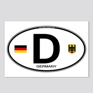 Germany Euro Oval Postcards (Package of 8)