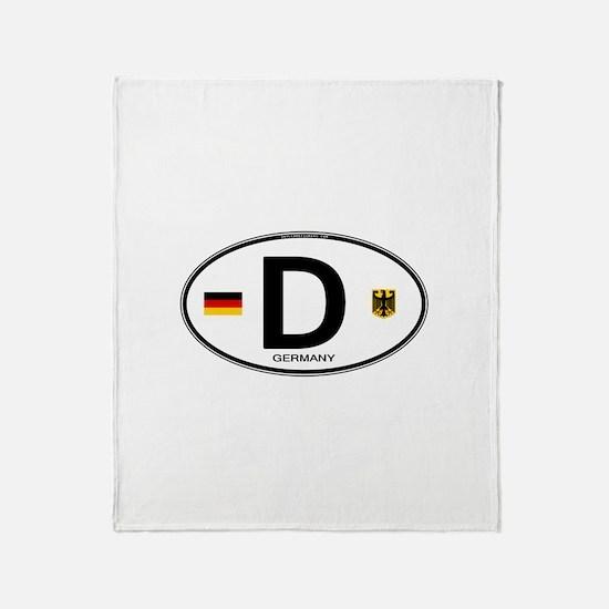 Germany Euro Oval Throw Blanket