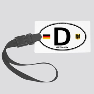 Germany Euro Oval Large Luggage Tag