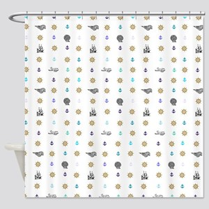 Patterned Beach Shower Curtain