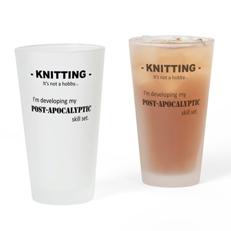 Knitting is not my hobby... Drinking Glass