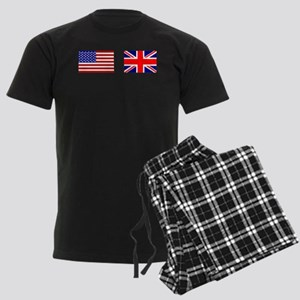 USA and UK Flags for Dark Men's Dark Pajamas