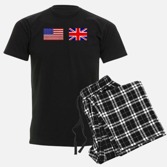 USA and UK Flags for Dark Pajamas