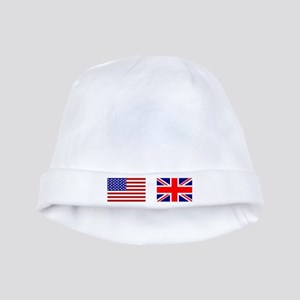 USA and UK Flags for Dark baby hat