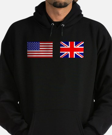 USA and UK Flags for Dark Hoodie (dark)