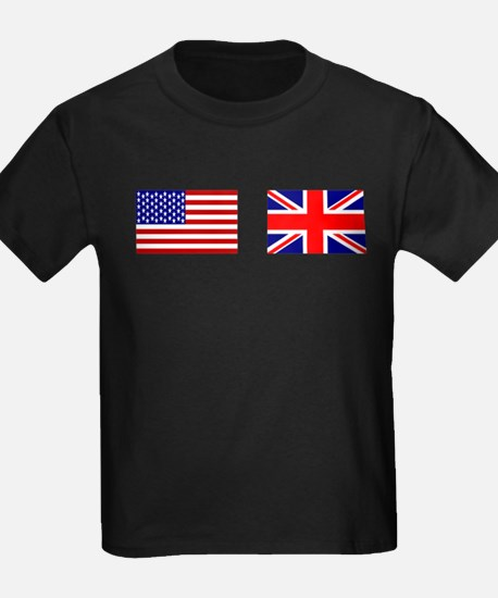 USA and UK Flags for Dark T