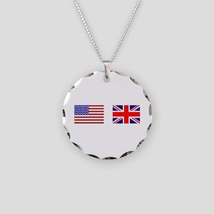 7fa37b393c78 USA UK Flags for White Stuff Necklace Circle Charm