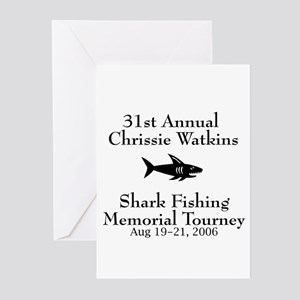 Shark Fishing Tourney Greeting Cards (Pk of 10