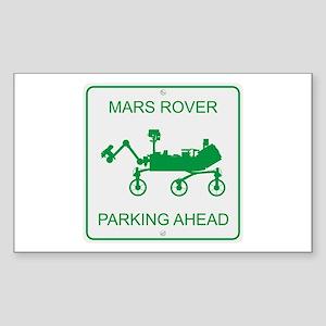 Mars Rover Parking Sticker (Rectangle)