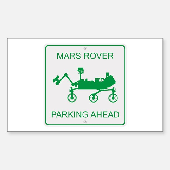Mars Rover Parking Sticker (Rectangle)