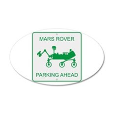Mars Rover Parking Wall Decal