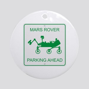 Mars Rover Parking Ornament (Round)