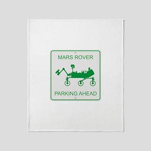 Mars Rover Parking Throw Blanket